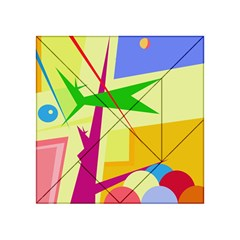 Colorful abstract art Acrylic Tangram Puzzle (4  x 4 )