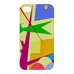 Colorful abstract art Apple iPhone 4/4S Premium Hardshell Case