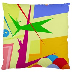 Colorful abstract art Large Cushion Case (One Side)