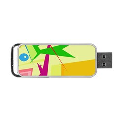 Colorful abstract art Portable USB Flash (Two Sides)