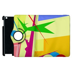 Colorful abstract art Apple iPad 3/4 Flip 360 Case