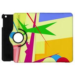 Colorful abstract art Apple iPad Mini Flip 360 Case