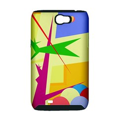 Colorful abstract art Samsung Galaxy Note 2 Hardshell Case (PC+Silicone)