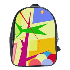 Colorful abstract art School Bags (XL)