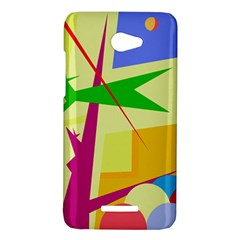 Colorful abstract art HTC Butterfly X920E Hardshell Case