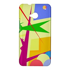 Colorful abstract art HTC One M7 Hardshell Case