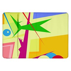Colorful abstract art Samsung Galaxy Tab 8.9  P7300 Flip Case