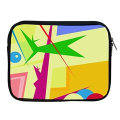Colorful abstract art Apple iPad 2/3/4 Zipper Cases