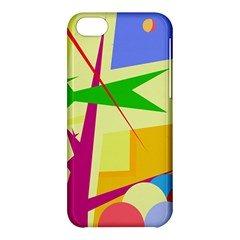 Colorful abstract art Apple iPhone 5C Hardshell Case