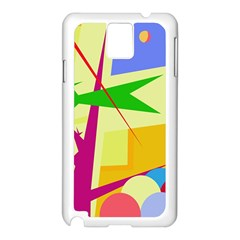 Colorful abstract art Samsung Galaxy Note 3 N9005 Case (White)