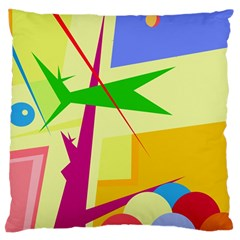 Colorful abstract art Standard Flano Cushion Case (Two Sides)