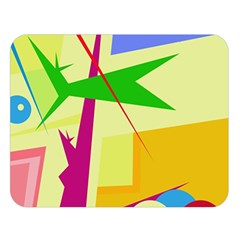 Colorful abstract art Double Sided Flano Blanket (Large)