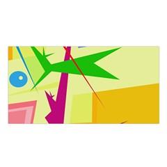 Colorful abstract art Satin Shawl
