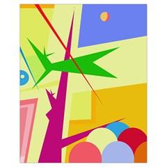 Colorful abstract art Drawstring Bag (Small)