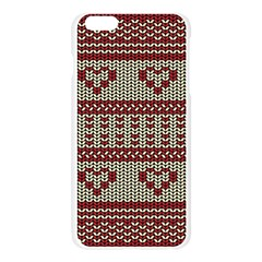 Stitched Seamless Pattern With Silhouette Of Heart Apple Seamless iPhone 6 Plus/6S Plus Case (Transparent)