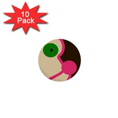 Dog face 1  Mini Buttons (10 pack)