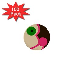 Dog face 1  Mini Buttons (100 pack)