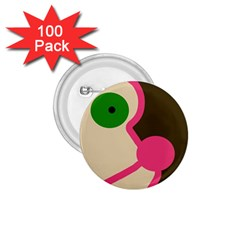 Dog face 1.75  Buttons (100 pack)