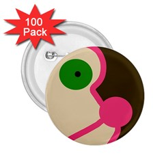 Dog face 2.25  Buttons (100 pack)