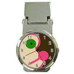 Dog face Money Clip Watches