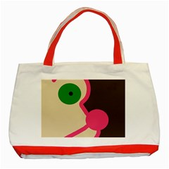 Dog face Classic Tote Bag (Red)