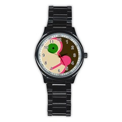Dog face Stainless Steel Round Watch