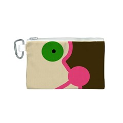 Dog face Canvas Cosmetic Bag (S)
