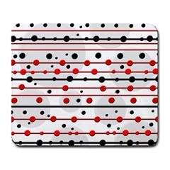Dots and lines Large Mousepads