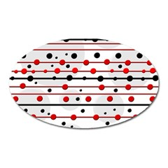 Dots and lines Oval Magnet