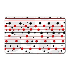 Dots and lines Magnet (Rectangular)