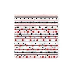Dots and lines Square Magnet