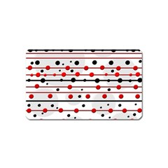 Dots and lines Magnet (Name Card)