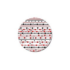 Dots and lines Golf Ball Marker