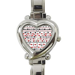 Dots and lines Heart Italian Charm Watch