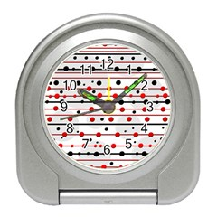 Dots and lines Travel Alarm Clocks