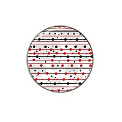 Dots and lines Hat Clip Ball Marker (4 pack)