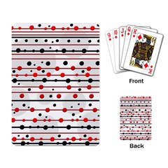 Dots And Lines Playing Card