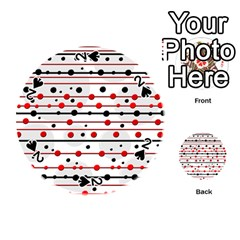 Dots And Lines Playing Cards 54 (round)