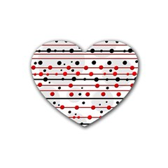 Dots and lines Heart Coaster (4 pack)
