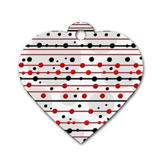 Dots and lines Dog Tag Heart (Two Sides)