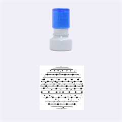 Dots and lines Rubber Round Stamps (Small)