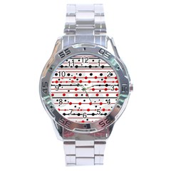 Dots and lines Stainless Steel Analogue Watch