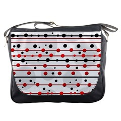 Dots and lines Messenger Bags