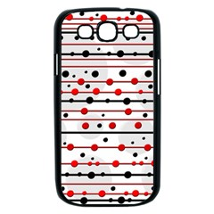 Dots and lines Samsung Galaxy S III Case (Black)