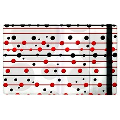 Dots and lines Apple iPad 2 Flip Case