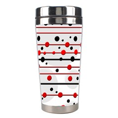 Dots and lines Stainless Steel Travel Tumblers