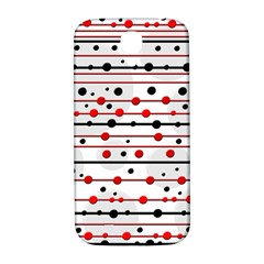 Dots and lines Samsung Galaxy S4 I9500/I9505  Hardshell Back Case