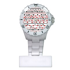 Dots and lines Plastic Nurses Watch