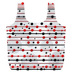 Dots and lines Full Print Recycle Bags (L)