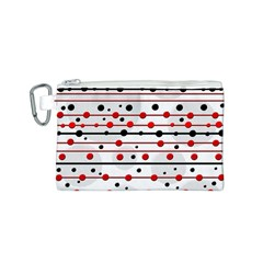 Dots and lines Canvas Cosmetic Bag (S)